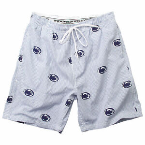 Penn State Nittany Lions Men/'s Blue Poly Mesh Workout Shorts