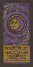 Robert Plant 2008 Wamu Theater Seattle Signed Gary Houston Poster 56/200