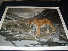 "Charles Frace "" Siberian Tiger ""  Signed Limited 2 Print Set  BEAUTIFUL!  1980"