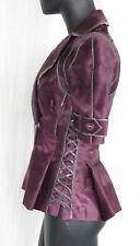 J. MENDEL Paris Broadtail Fur Pleated JACKET Top Horizontal Design 0 2 XS