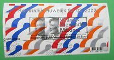 Nederland NVPH 2046 blok Koninklijk Huwelijk 02-02- 2002 gestempeld