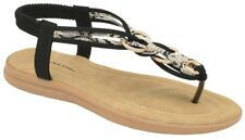 Dunlop Nikita Black Slip-On Toe-Post Mules NEW SS18 RRP £28 Size 3