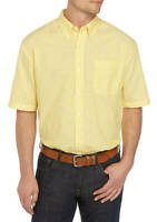 Saddlebred Big & Tall Classic Fit Yellow Pinstripe 3X Mens Short Sleeve Shirt