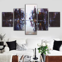 5Pcs Abstract Modern City Canvas Print Painting Picture Home Wall Decor  UK