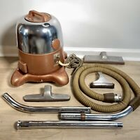 Vintage Rexair Rainbow Model D Canister Vacuum Cleaner + Attachments + Extension