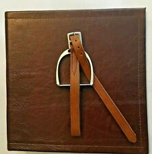 Smooth Chocolate Leather 2 3 Ring Binder Mini English Stirrup And Leather