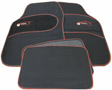 Universal RED Trim Black Carpet Cloth Car Mats Set to fit Hyundai Accent Sonata