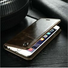 Flip Real Leather Magnetic Case Wallet Cover For Apple iPhone 6 6s Plus SE 5 4