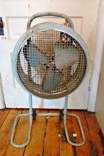 Westinghouse Mobilaire Stand Floor Fan MA-4020 Green Metal Height Adjustable