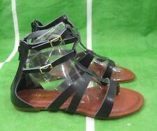 verano Negro tiras en Tobillo Moda Para Mujer Gladiador Romano Sandalias Números