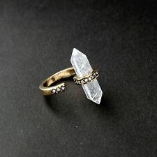Dynamic Design Rock Crystal Adjusted Cuff Atlas Crystal Rings Nature Gem Stone
