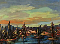 Joles Bickel-Schultheiss 1905 - 1988 - Landscape at One Lake