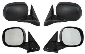 NEW PAIR DOOR MIRROR FIT DODGE RAM 1500 2500 3500 4000 OLD STYLE 98-02 CH1321179