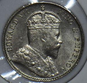 Straits Settlements 1910 Edward VII 5 Cents 291121 combine shipping