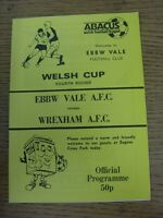 1988/1989 Ebbw Vale v Wrexham [Welsh Cup] . Good condition unless previously sta