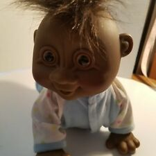 "Russ Berrie Black 11"" Full Size Baby Troll Doll #9111 H04 Clothed Does Not Work"