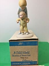 Ceramica Excelsis Frances Hook A Child's World Helping Hands Ce-25 in Box