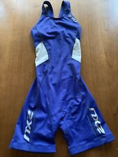 2XU Womens Small Tri Suit Sleeveless Compre Triathlon Cycling Skinsuit Blue