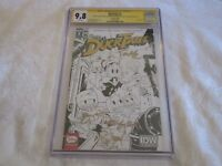 CGC SS 9.8 IDW Convention DuckTales #1 Signed Bobby Moynihan Cartoon Staff A
