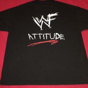 WWF ATTITUDE 🎭T SHIRT BLACK XXL 'COME GET SOME' 2001 World Wrestling Federation
