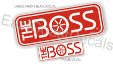 2 BOSS Snow Plow Blade NEW Decal Kit 1 Blade = 1 Frame decal set +1 FREE US FLAG