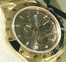 Rolex Cosmograph DAYTONA 116508 Mens 18K Yellow Gold Slate Index Dial 40MM