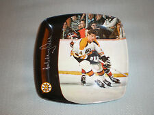 "5 1/4"" x 5 1/4"" BOBBY ORR Boston Bruins VINTAGE SIGNED ASH TRAY/CANDY DISH"