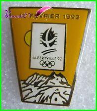 Pin's Jo Jeux Olympique Albertville le 12 Fevrier 1992  #B4