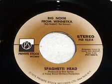 Spaghetti Head: Big Noise From Winnetka/ Funky Axe  [Unplayed Copy]