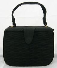 1950's Evening Bag~Classic-Black Cloth Cover Bag~Vintage-Nostalgia - A Treasure