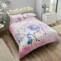 Christmas Pearly Unicorn Duvet/Quilt Cover Set New Luxury Animal Xmas Bedding