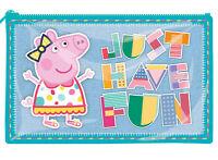 Peppa Pig Just Have Fun Shiny Plastic PVC Flat Pencil Case Back to School