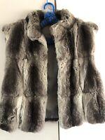 Genuine Chinchilla Fur Vest Coat Jacket Appraised At $6000