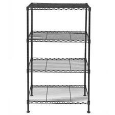 Open Design 4 Tier Wire Shelving Rack Metal Shelf Adjustable Garage Storage
