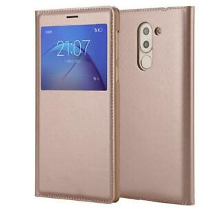 """Luxury Smart Flip Window View Cover PU Leather Case For 5.5"""" Huawei Mate 9 Lite"""