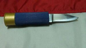 12 gauge SHOT SHELL KNIFE Sportsmans Utility Pocket Hunting Vest Knife NEW Blue