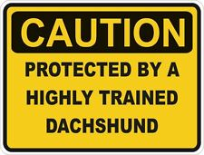 Dog Breed Dachshund Caution Sticker Pet for Bumper Car Door Locker Laptop Truck