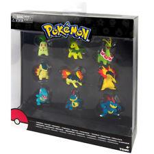 TOMY Pokemon Gen 2 Starter Chikorita Cyndaquil Totodile Multi 9-Pack Figures
