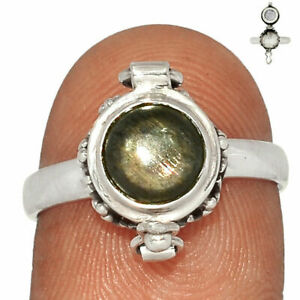 Poison - Black Sunstone, Namibia  Sterling Silver Ring Jewelry s.7 BR81129 XGB
