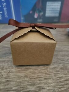Cardboard gift boxes With Brown Ribbon