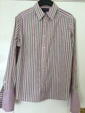 Marks And Spencer's Autograph Size L  Pinks And Beige Striped Use With Cufflinks