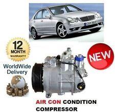 Per MERCEDES C180 W203 10/2000 -5 / 2002 Nuovo AC aria con compressore CONDIZIONAMENTO
