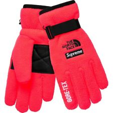 Supreme The North Face SS20 RTG Fleece Gloves RED SMALL S IN HAND