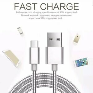 Extra Strong USB Type C Fast Data Charger Cable Samsung Galaxy any type C phone