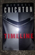 Timeline Michael Crichton 1999, Hardcover, 1st edition 1st printing SIGNED