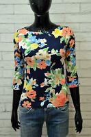 RALPH LAUREN Maglia Floreale Donna Taglia XS Polo Blusa Slim Fit Shirt Women's