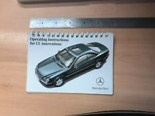 Mercedes CL 500 W215 operating instructions for CL Innovations.