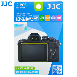 2Pcs JJC LCD Screen Protector Film for OLYMPUS E-M5 Mark III II E-PL7 E-P5 PEN-F