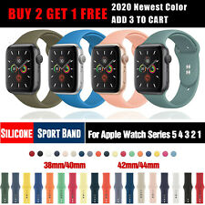 2020 NEW Color Silicone Sports Band iWatch Strap For Apple Watch Series 5 4 3 2