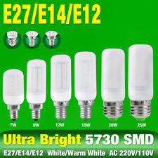 E27 E14 E12 Bright LED SMD Corn Bulb Desk Lamp Cool/Warm Lights 25/20/15/12/9/7W